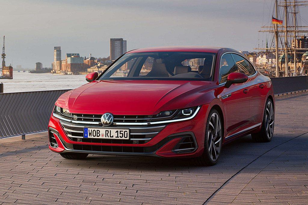 福斯當家旗艦轎跑車Arteon在台開始預售。 圖/Volkswagen提供