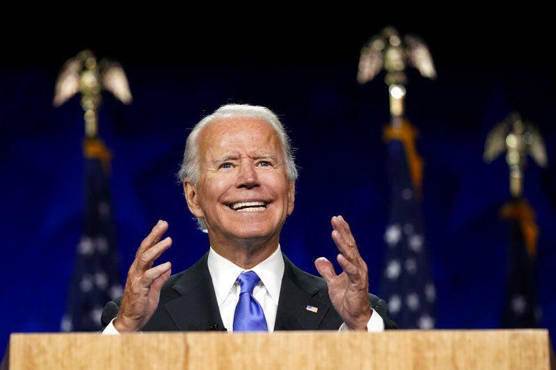 美國民主黨總統候選人拜登表示,他會當全民總統。 圖/美聯社