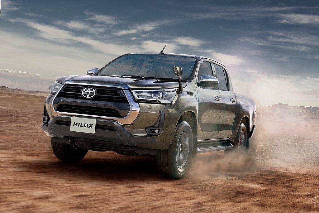 台灣在7月底導入符合六期排放規範的小改款Toyota Hilux,日規車型則是在...