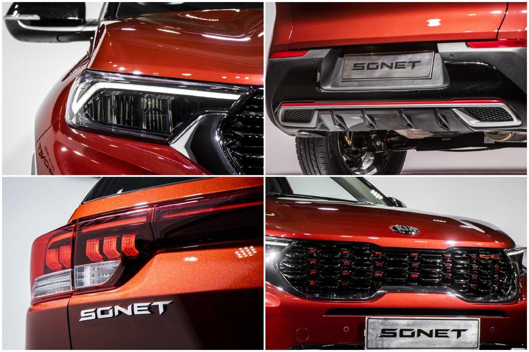 全新Kia Sonet外觀特點。 摘自CarWale