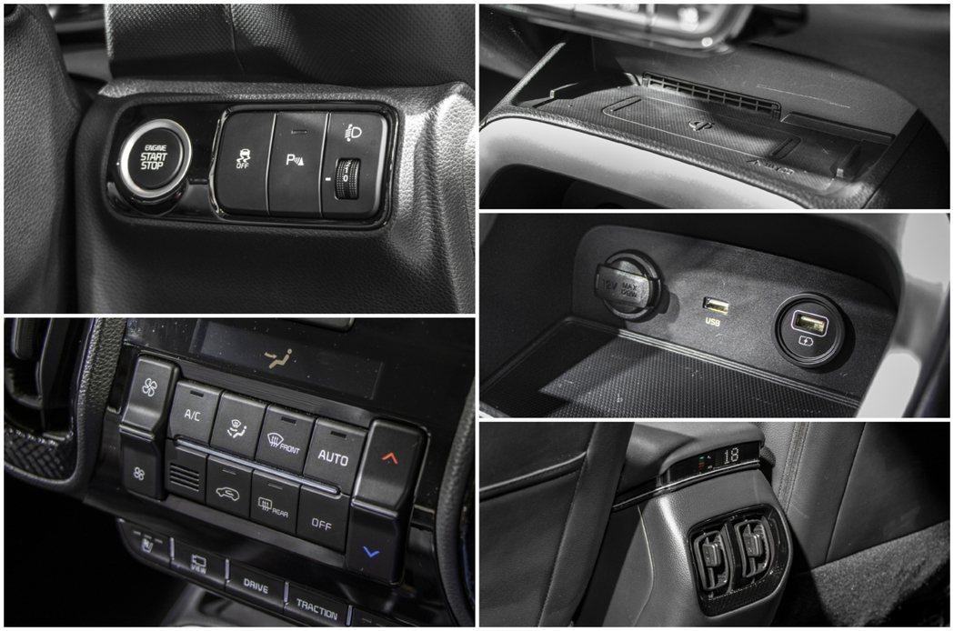 Kia Sonet車內配有手機無線充電板,也有後座冷氣出風口。 摘自CarWal...