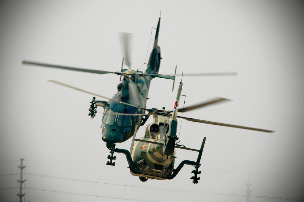 共機直-9運輸直升機。 圖/新華社