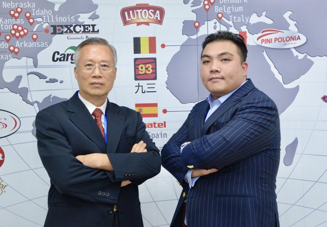 裕國現任董事長楊育偉(右)、總經理詹義郞(左)。記者宋健生/攝影