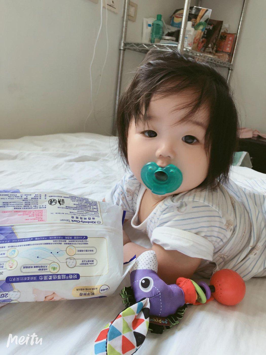 黃美珍女兒「小星」被誇是「嬰兒界林志玲」。圖/Superfanz提供