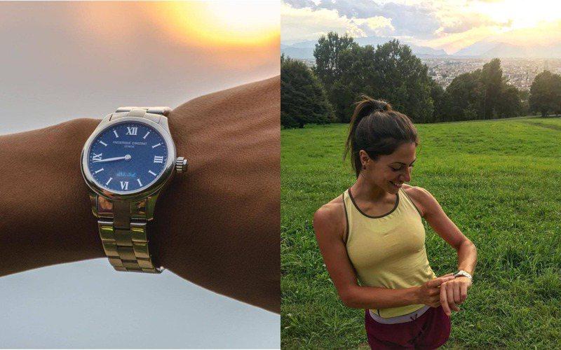 熱愛戶外活動的義大利電視主持人Sara ventura,以康斯登智慧腕表,一展秀開朗健美氣息。圖 / 翻攝自ig。