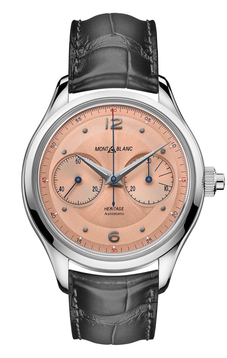 Montblanc,傳承系列單按把計時碼表(126078),約16萬2,600元...