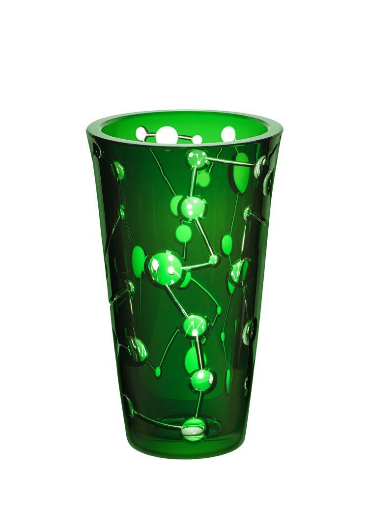 Saint-Louis聖路易水晶Comète系列大花瓶(綠色)/17萬4,920...