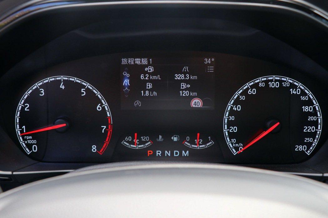 4.2吋全彩LCD液晶智慧多功能儀表板則提供豐富車輛資訊。 記者陳威任/攝影