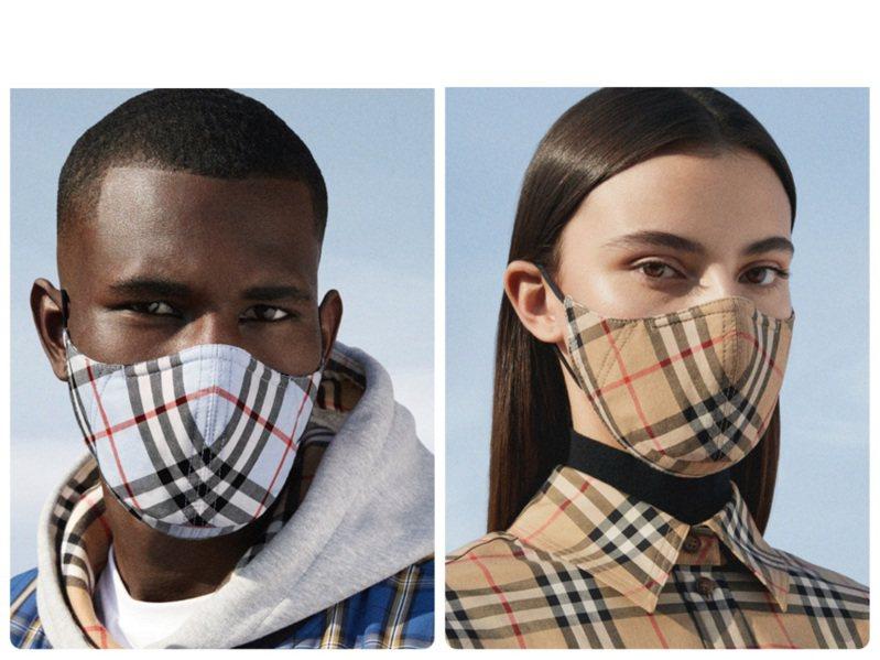 BURBERRY官網發售口罩,4,200元。圖/BURBERRY提供