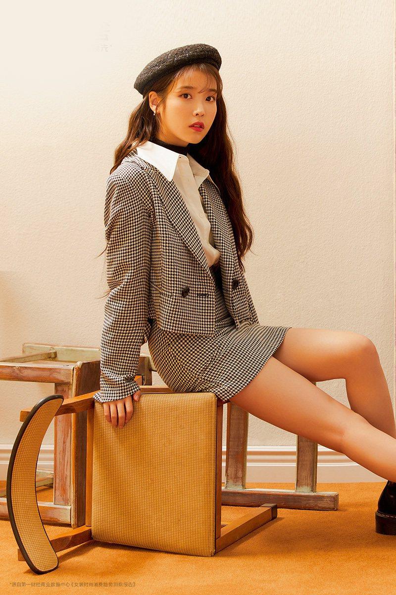 韓國女星IU李知恩近日發行新專輯。圖/摘自微博
