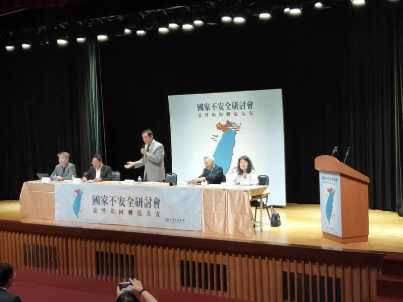 馬英九下午在研討會上表示,民進黨政府從沒這麼努力過,代表他們打到要害了。記者徐偉真/攝影