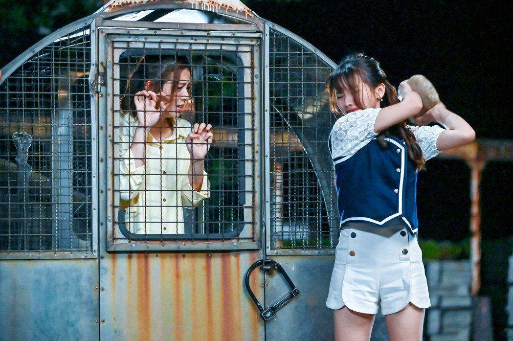 蔡瑞雪在「浪漫輸給你」劇中黑化成「黑蓮花」。圖/三立提供