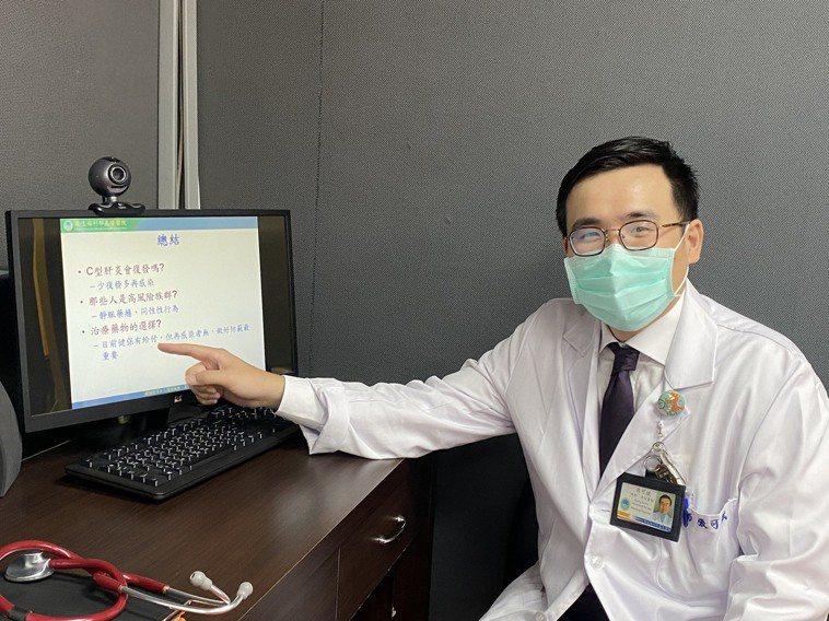 衛福部基隆醫院肝膽腸胃科醫師張可斌說,C型肝炎主要是透過血液接觸感染,要特別注意...
