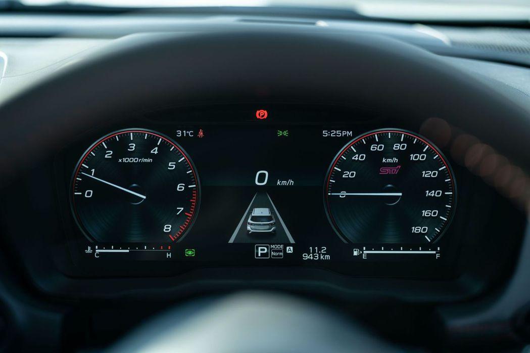 EX版本的12.3吋數位儀表板為Subaru車系首次配備。 摘自Subaru.j...