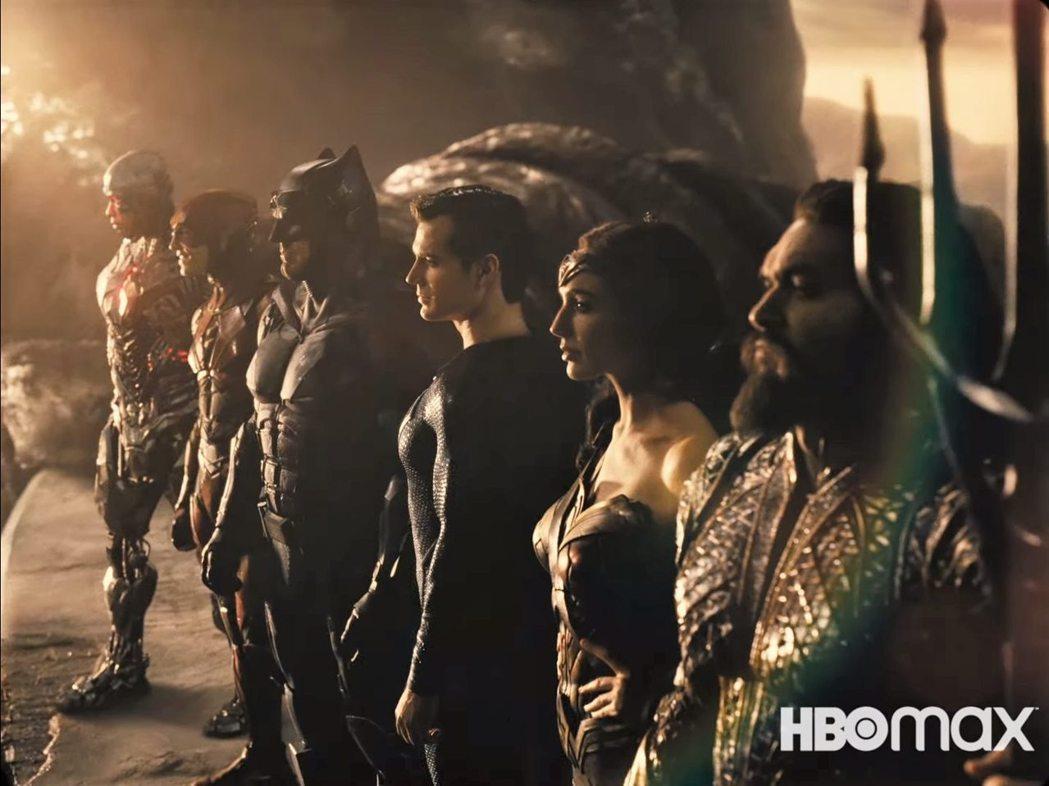 查克史奈德導演版「正義聯盟」也將登場HBO MAX。圖/摘自Youtube