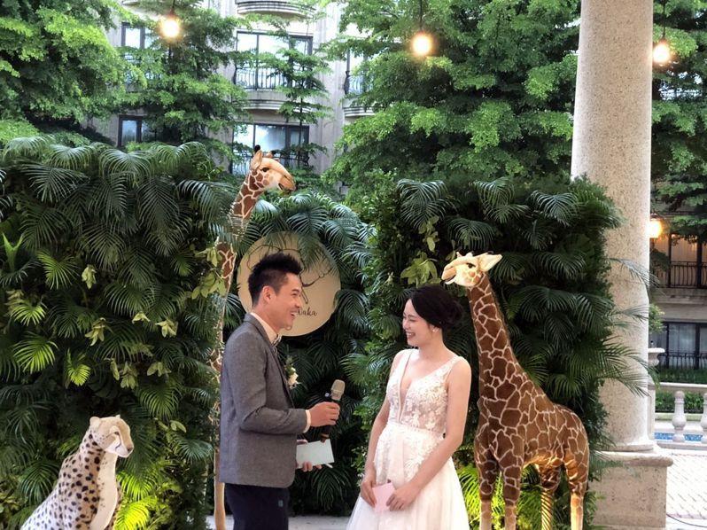 疫後時期,類海外婚禮也正夯。圖/義大皇家酒店提供