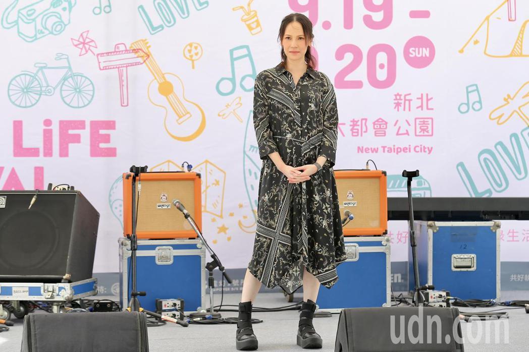 金曲歌后楊乃文下午出席「綠生活音樂節」記者會,分享心中的綠生活。記者林伯東/攝影