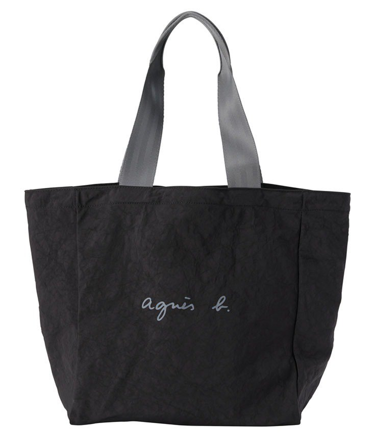黑色環保再造托特包,2,880元。圖/agnès b.提供