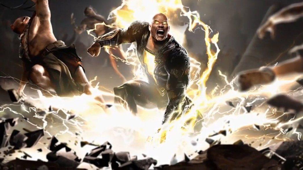 巨石強森首次演出超級英雄電影,將在「黑亞當」飾演另類英雄。圖/摘自Youtube