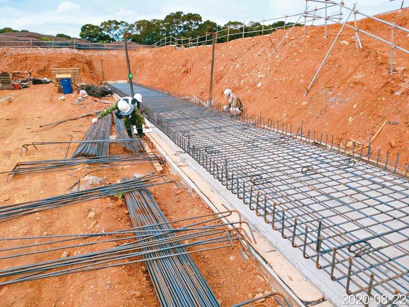 林口工一市地重劃區目前正在施工。圖/新北工務局提供