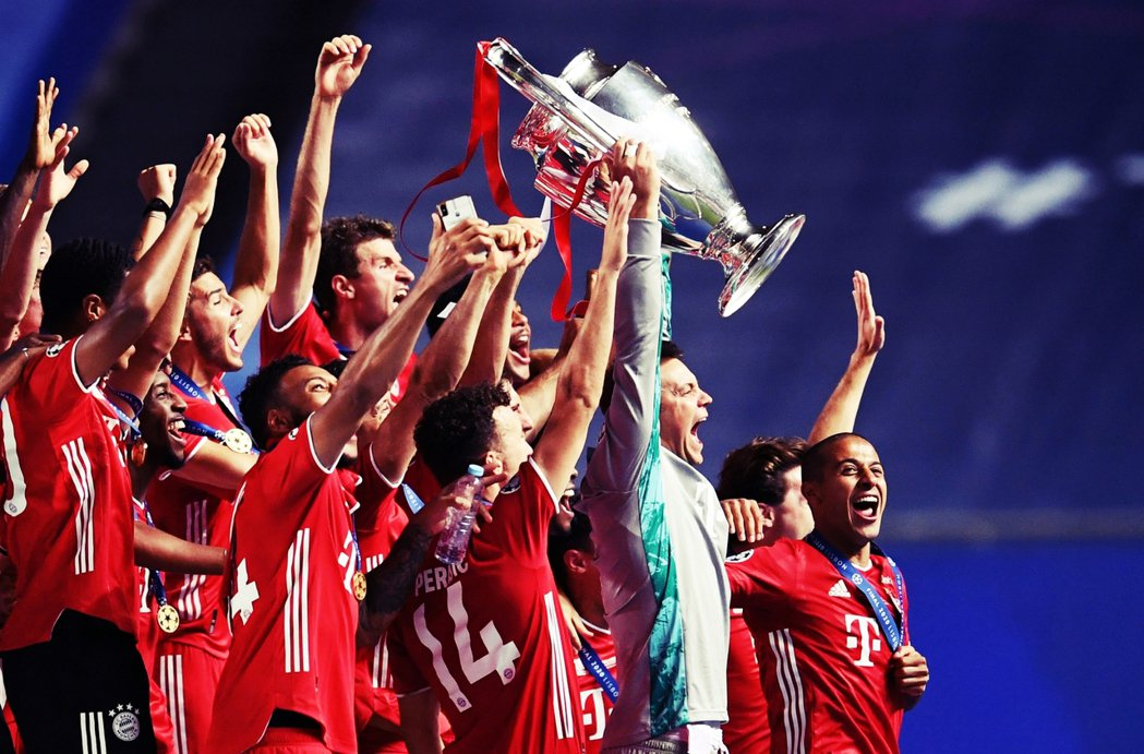 拜仁慕尼黑是2020「瘟疫之年」的歐洲冠軍聯賽冠軍球隊。 圖/法新社