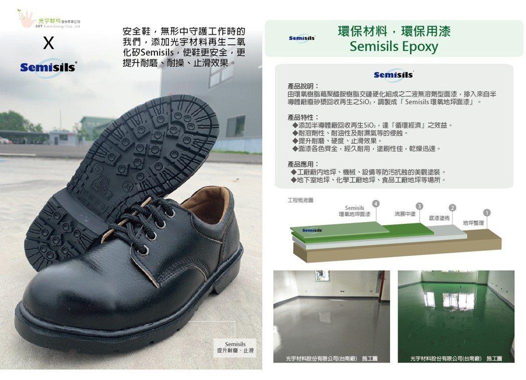 環保材料、環保用漆(Semisils Epoxy) 添加Semisils,使鞋更...