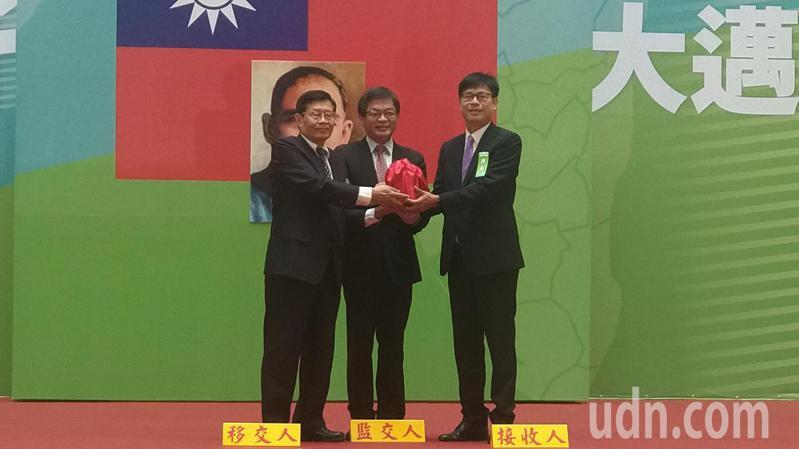 高雄市長陳其邁今上午舉行就職典禮。記者蔡孟妤/攝影