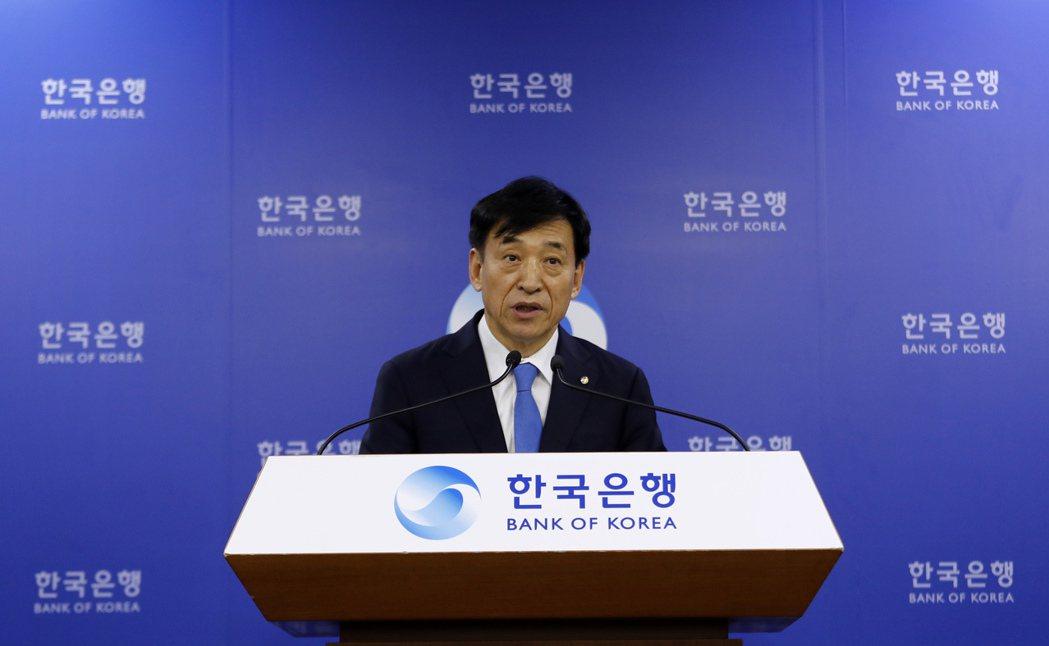 南韓央行總裁李柱烈。美聯社