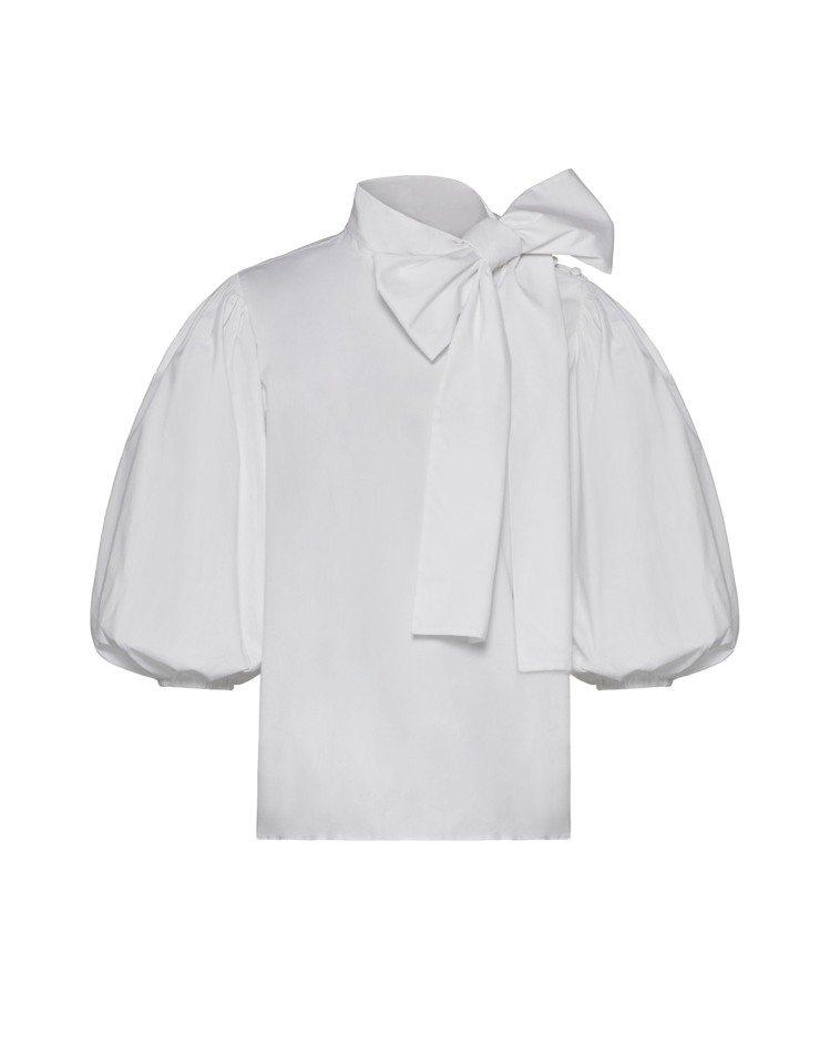 蝴蝶結府綢襯衫,14,800元。圖/REDValentino提供