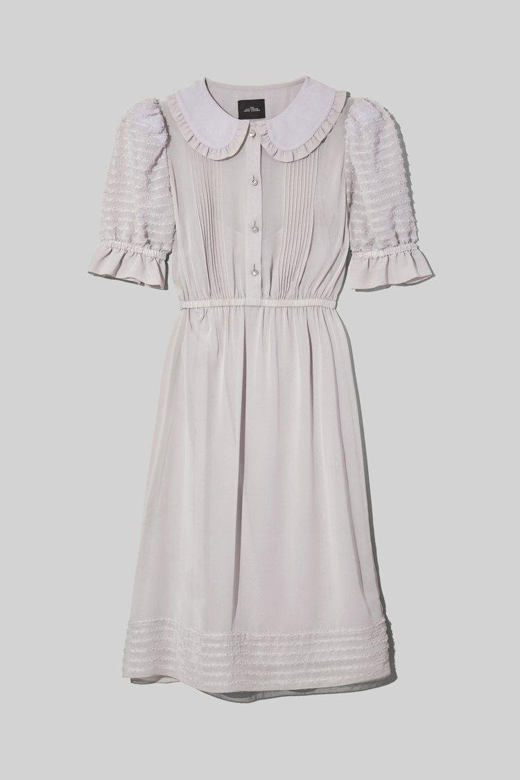 荷葉邊領洋裝,20,900元。圖/Marc Jacobs提供