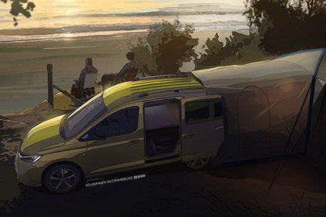 福斯商旅最小露營車Caddy Mini-Camper即將現身!空間運用與安全是賣點