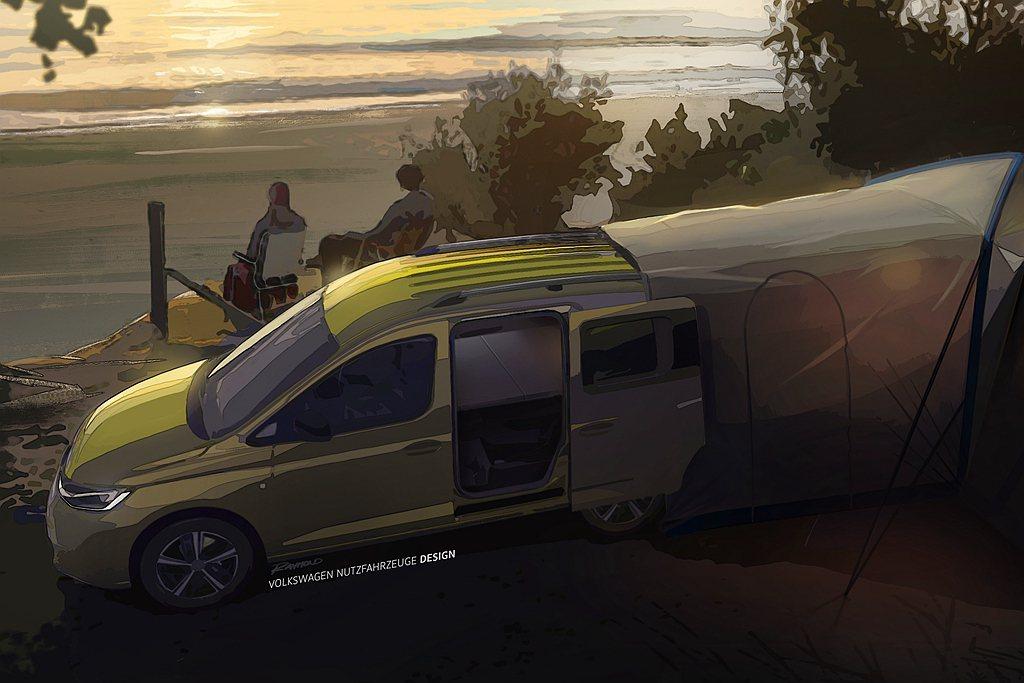 福斯商旅即將推出Caddy Mini-Camper,成為旗下最小的多功能露營車。...