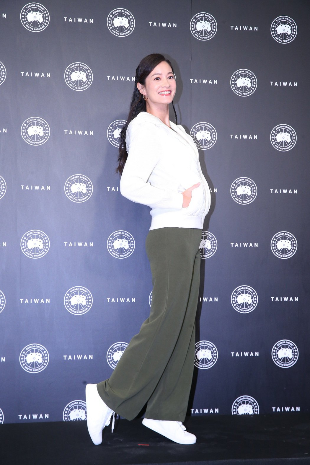 Janet出席戶外服飾品牌記者會。記者林澔一/攝影