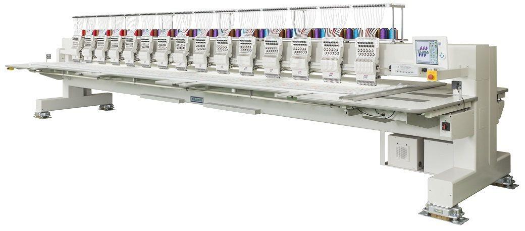 TMCP-FV工業量產刺繡機。      萇元公司/提供