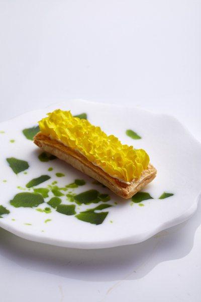 鹽之華的孔雀花、白起司、千層酥皮。 圖/鹽之華提供