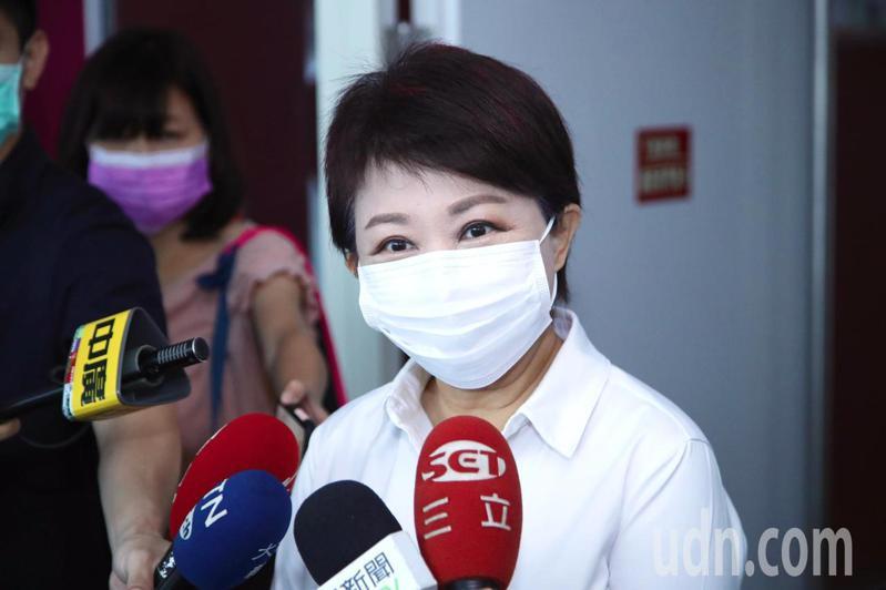 台中市長盧秀燕解釋,沒有被邀請參加米其林發佈會,何來「缺席」之説。記者陳秋雲/攝影