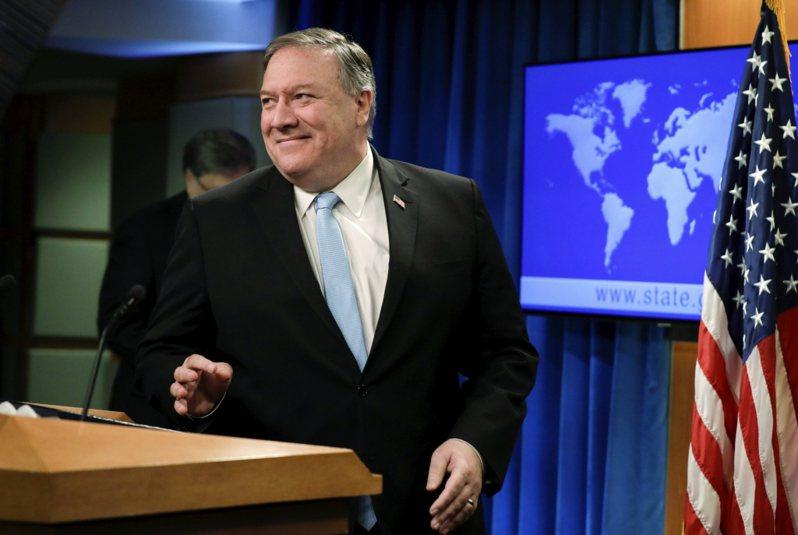 新華社再度發文痛批美國國務卿龐培歐。美聯社