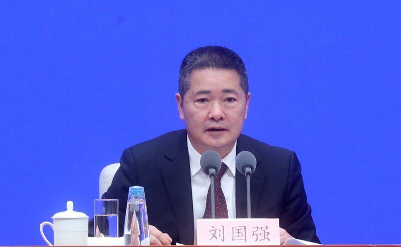 中國人民銀行副行長劉國強。中新社