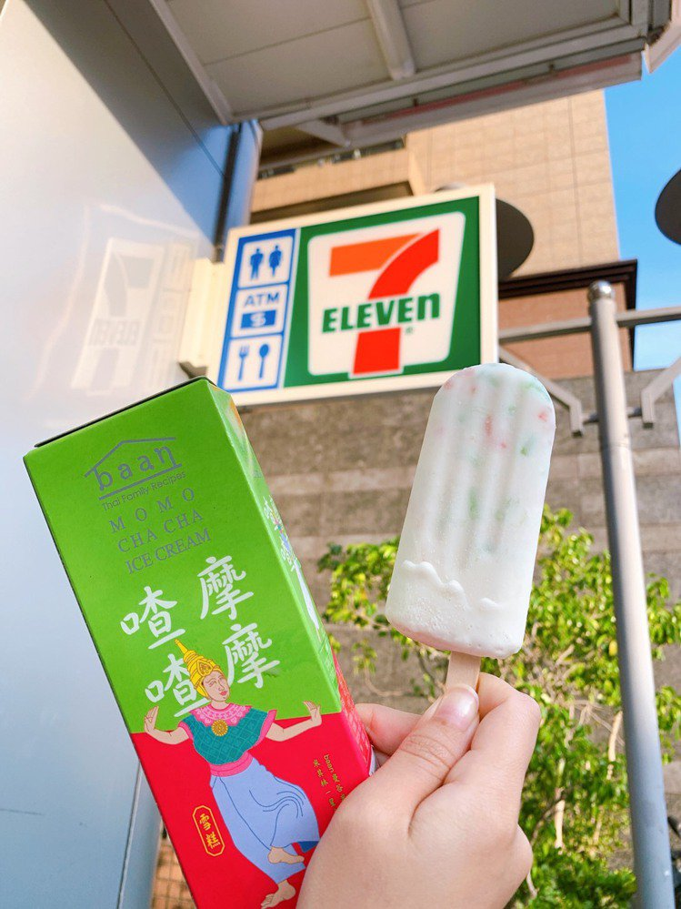 7-ELEVEN限量開賣baan「摩摩喳喳雪糕」,售價39元。圖/7-ELEVE...