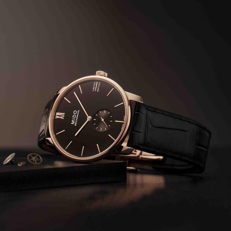 MIDO的Baroncelli手上鍊腕表,薄型機芯包表殼後,較智慧型手機還纖薄。...