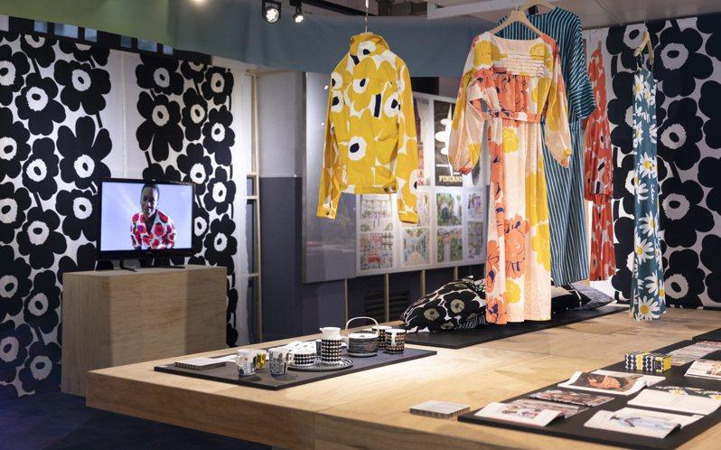 Marimekko參與台灣設計館「北緯 60 度的芬蘭設計展-luonnonläheinen elämä」。圖/Marimekko提供