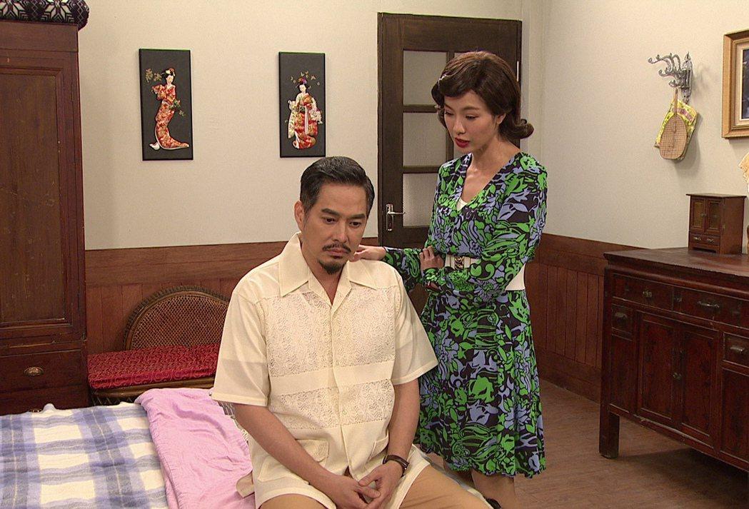 黃瑄(右)劇中遭老公質疑偷人。圖/台視提供