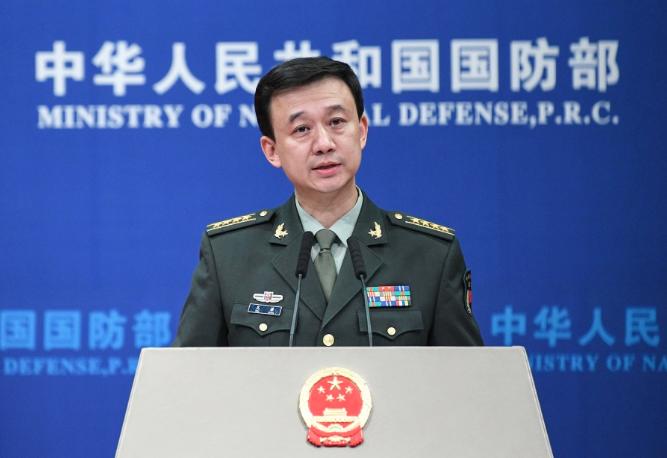 大陸國防部新聞發言人吳謙。(中新社)