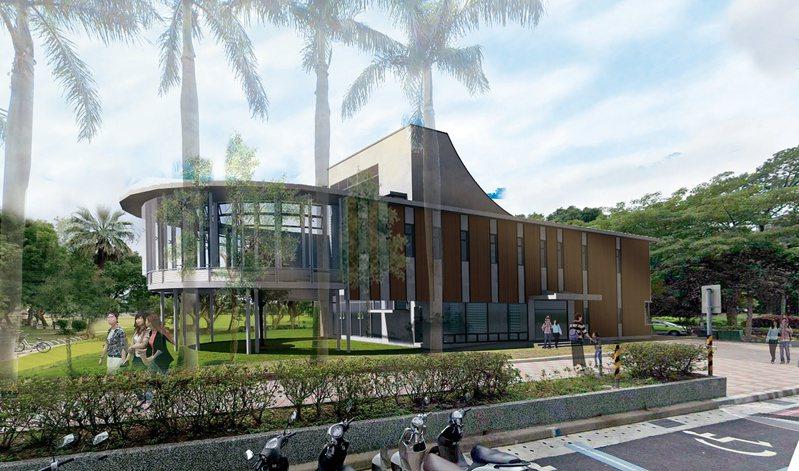 新北市林口區李科永紀念圖書館完工模擬圖。圖/新北市立圖書館提供