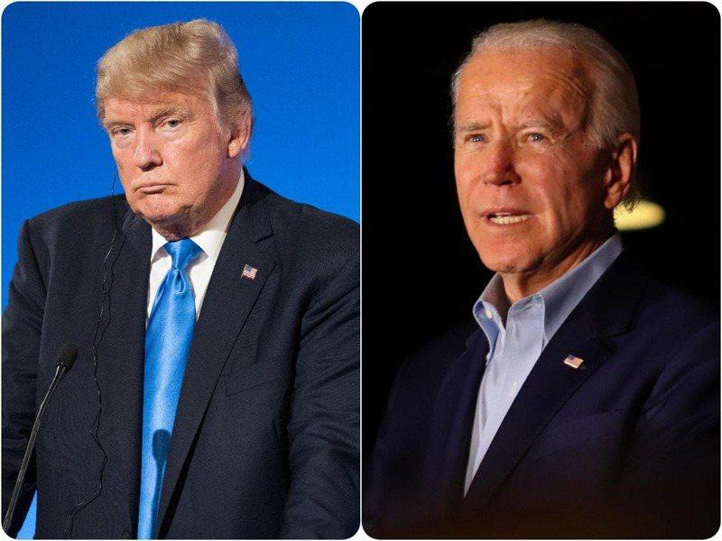 現任美國總統川普(左)及民主黨總統候選人拜登(右)。圖取自shutterstock