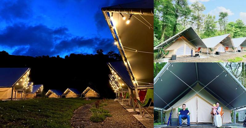 基隆全新「拉波波村」露營地將於9月1日至9月30日試營運囉,期間享最低6折一泊三食豪華露營體驗。 圖/拉波波村臉書粉專、IG網友judywawai授權