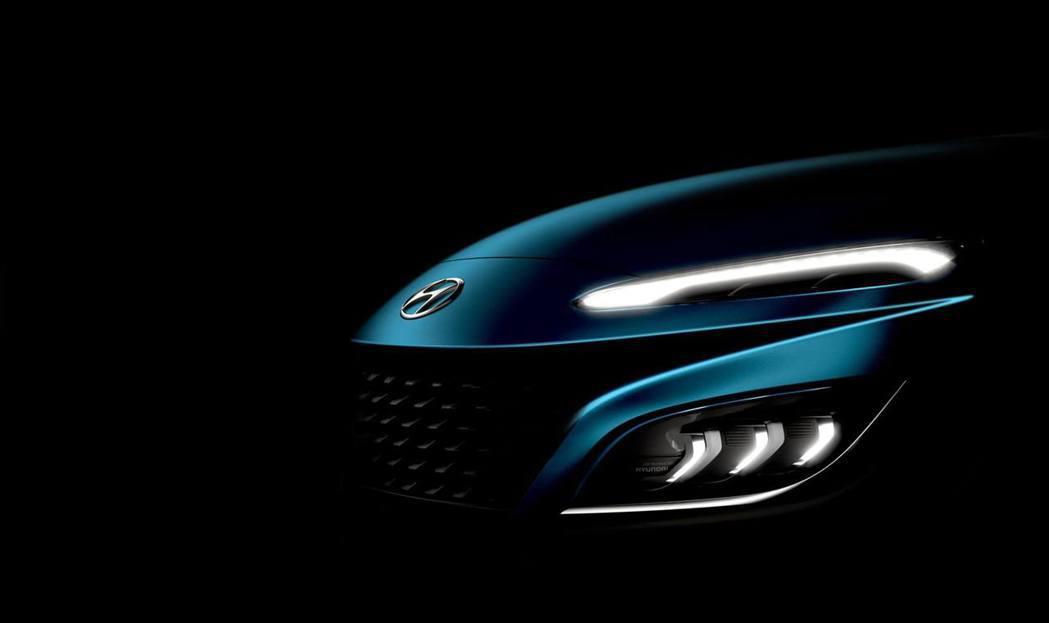 小改款Hyundai Kona車頭變化將會是個相當有感的的設計。 摘自Hyund...