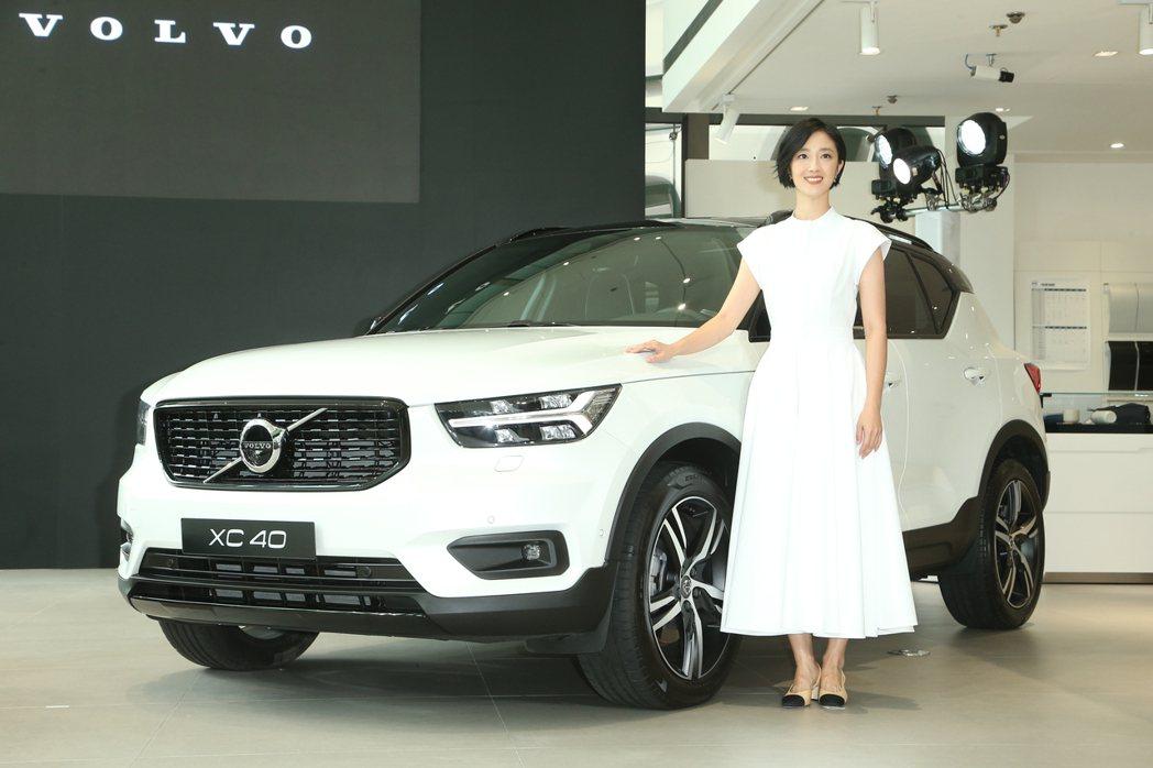 桂綸鎂拍攝VOLVO XC40廣告,出席新車發表。記者陳立凱/攝影
