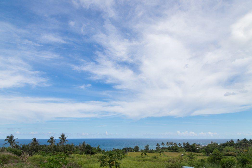 楊柏偉在長濱學會觀察天氣,了解自然更迭。記者陳立凱/攝影