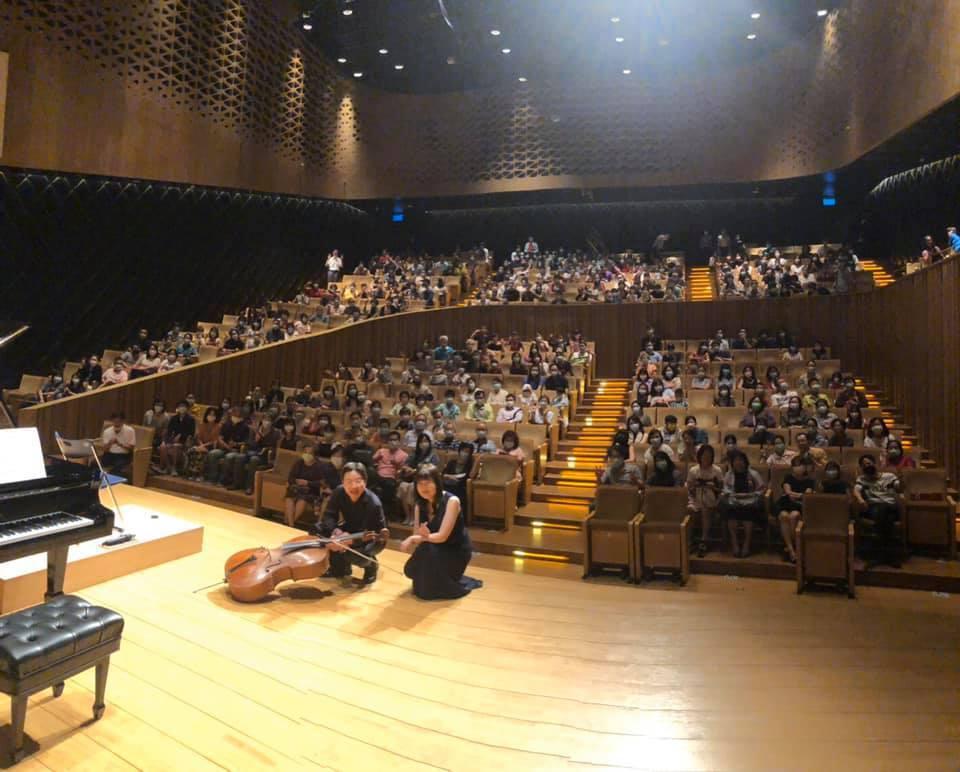 衛武營國家藝術中心上周迎來大提琴家張正傑精采演出。 圖/摘自大提琴家張正傑臉書